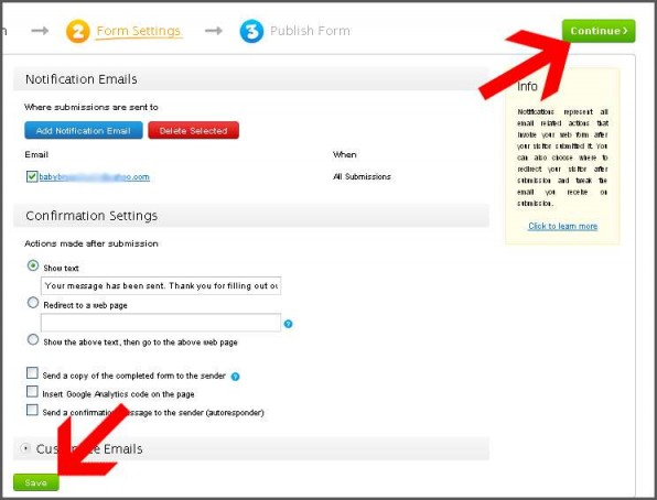 How to embed contact form to my website