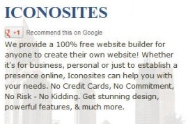 Thumbnail image for Add a Google+ Button with The Best Free Website Builder